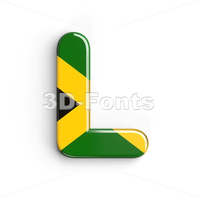 jamaican flag 3d font L - Capital 3d character - 3d-fonts