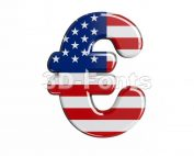 american euro currency sign - 3d business symbol - 3d-fonts.com