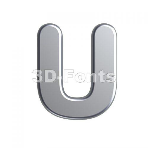 metal 3d letter U - Capital 3d font - 3d-fonts