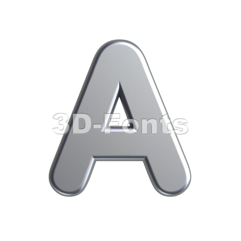 metal letter A - Capital 3d character - 3d-fonts