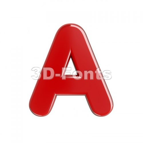 red letter A - Capital 3d character - 3d-fonts