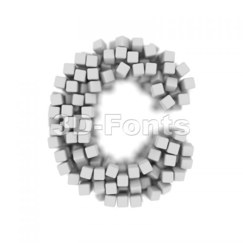 3d cube font C - Capital 3d letter - 3d-fonts
