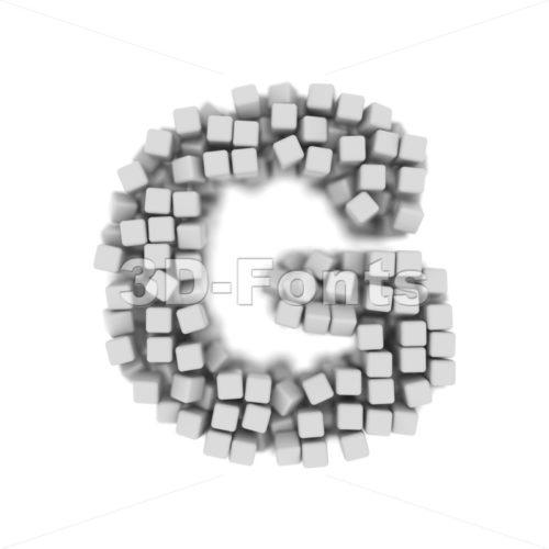 Upper-case cube character G - Capital 3d font - 3d-fonts