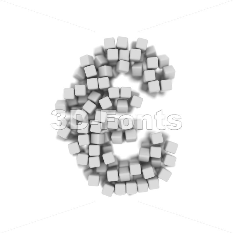 cube euro currency sign - 3d business symbol - 3d-fonts