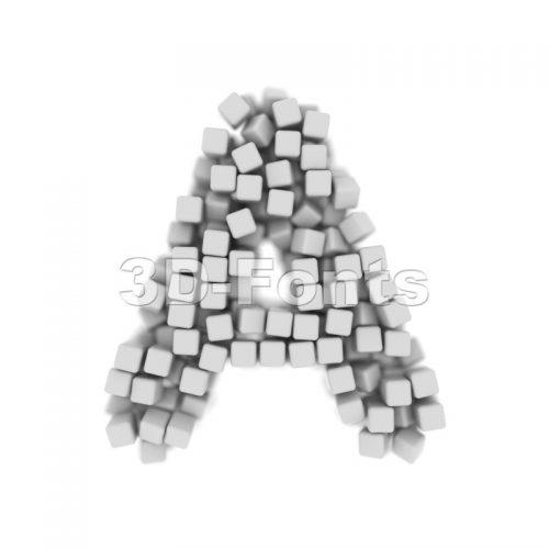cube letter A - Capital 3d character - 3d-fonts