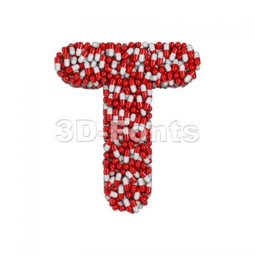 pharmacy character T - Uppercase 3d letter - 3d-fonts