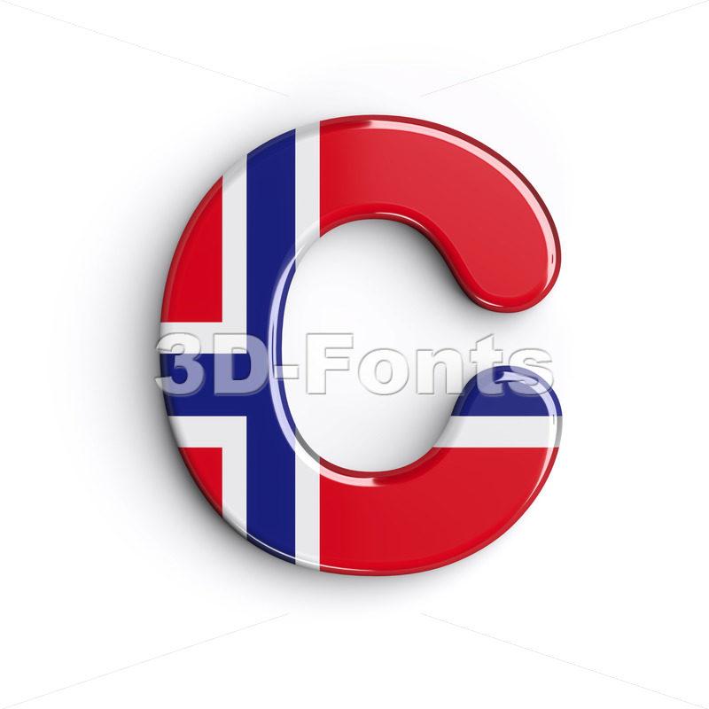 3d Norway font C - Capital 3d letter - 3d-fonts.com