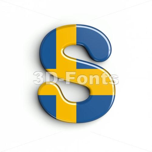 sweden font S - Uppercase 3d letter - 3d-fonts
