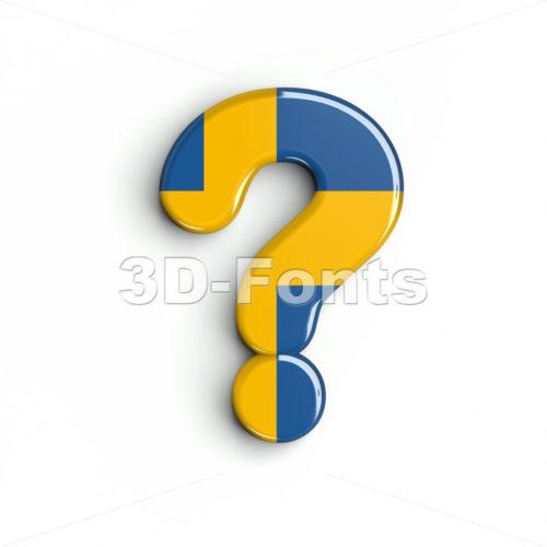 sweden number 0 interrogation point - 3d sign - 3d-fonts