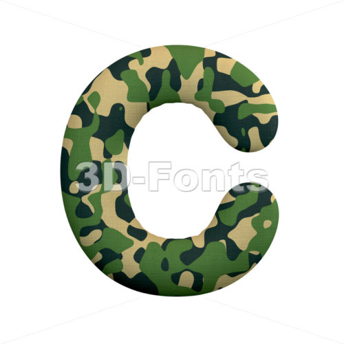 3d army font C - Capital 3d letter - 3d-fonts