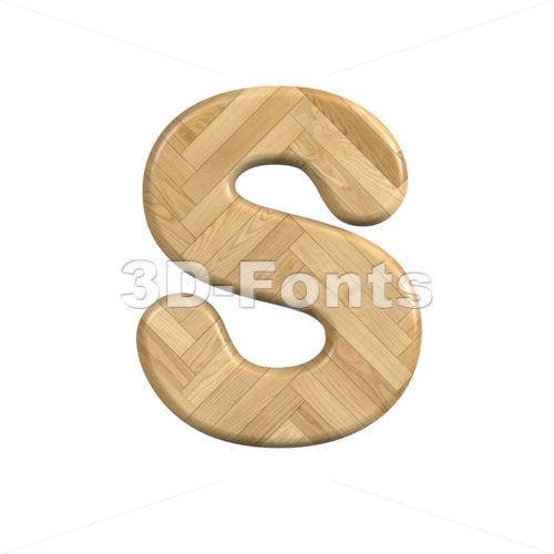 Ash wood font S - Uppercase 3d letter - 3d-fonts
