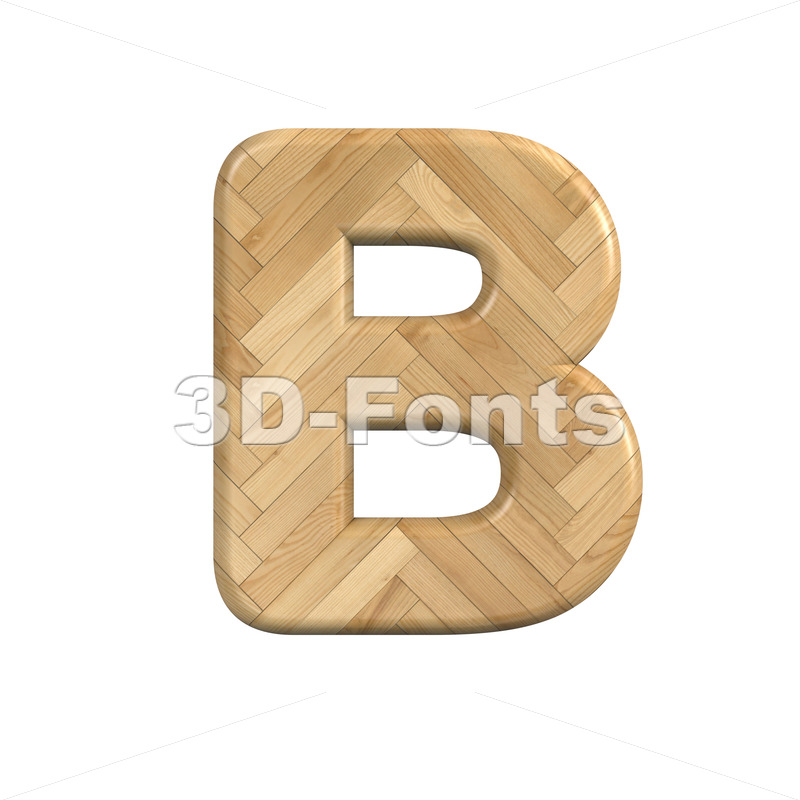 Capital Wood letter B - Upper-case 3d font - 3d-fonts
