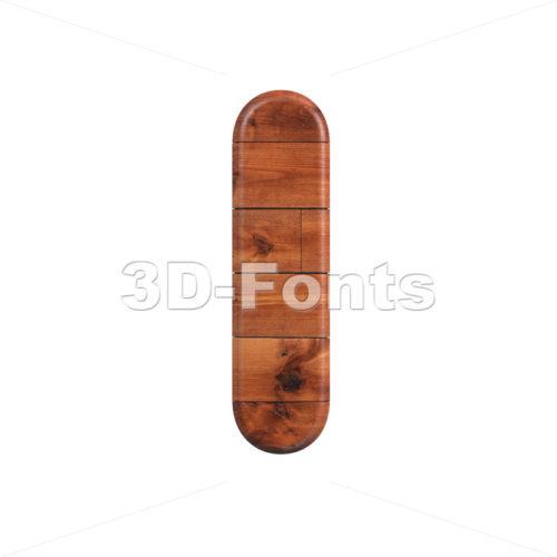 Uppercase wood font I - Capital 3d letter - 3d-fonts