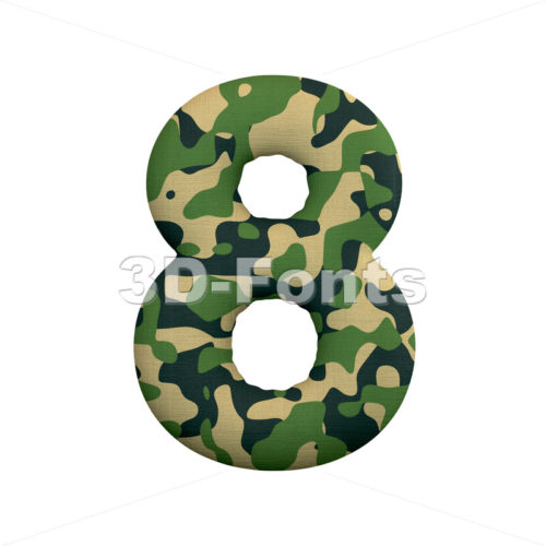 army digit 8 - 3d number - 3d-fonts