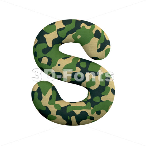 army font S - Uppercase 3d letter - 3d-fonts
