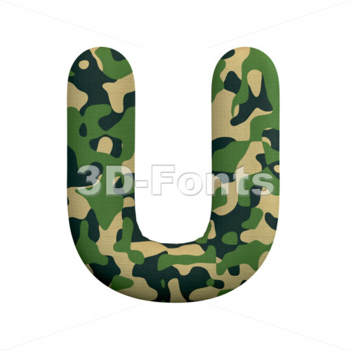 army letter U - Capital 3d font - 3d-fonts