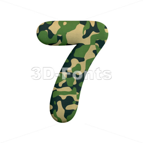 army number 7 - 3d digit - 3d-fonts