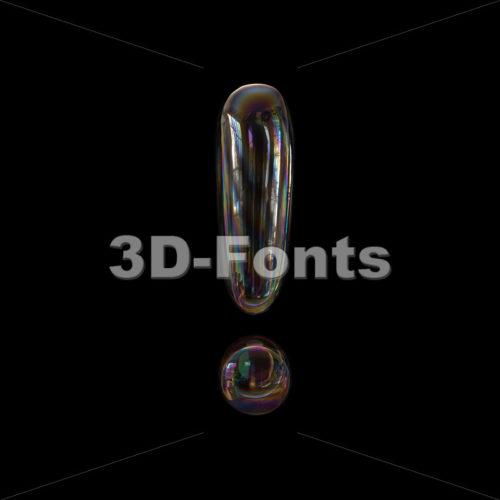 bubble exclamation point - 3d symbol - 3d-fonts
