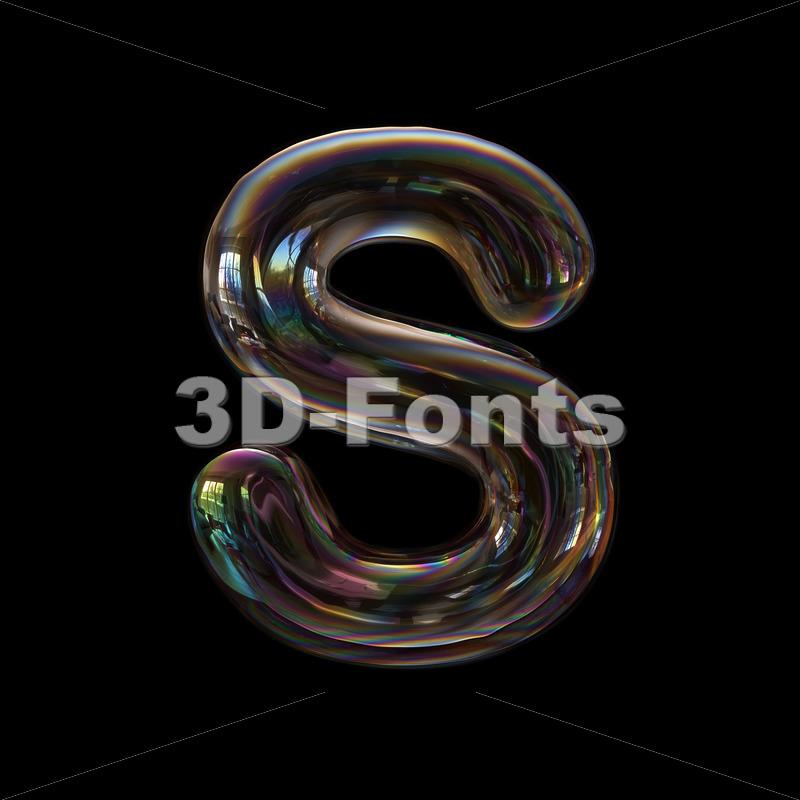 bubble font S - Uppercase 3d letter - 3d-fonts