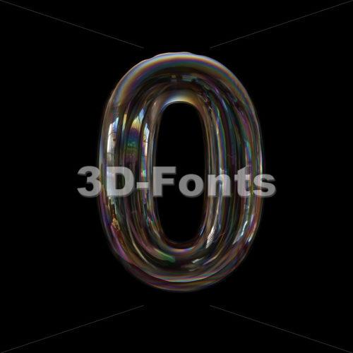 bubble number 0 - 3d digit - 3d-fonts
