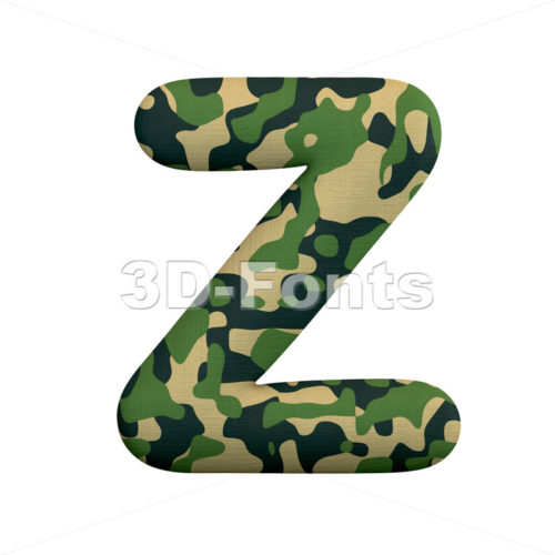 Upper-case army font Y | Capital character on white background