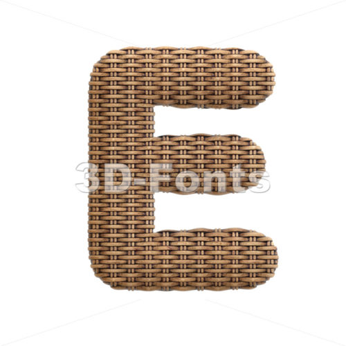 basket character E - Capital 3d letter - 3d-fonts
