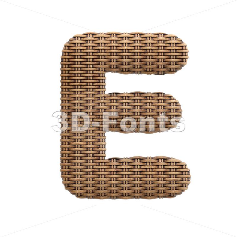 basket character E - Capital 3d letter - 3d-fonts