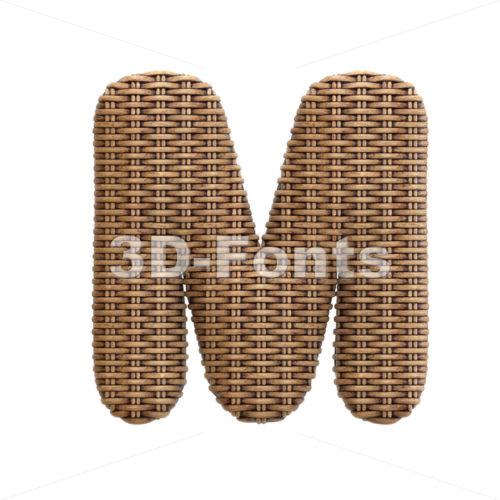 rattan character M - Capital 3d letter - 3d-fonts