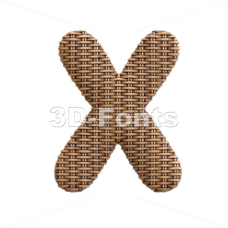 rattan character X - Upper-case 3d letter - 3d-fonts