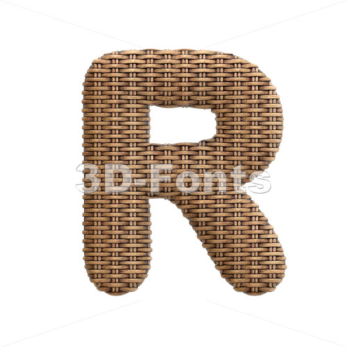 rattan letter R - Uppercase 3d font - 3d-fonts