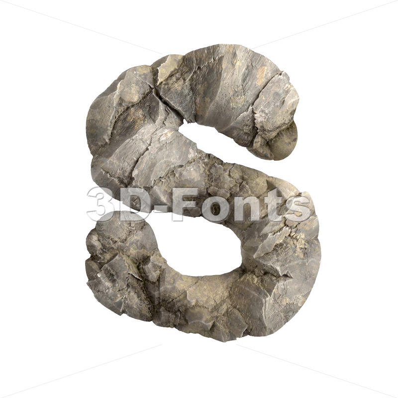 rock font S - Uppercase 3d letter - 3D Fonts Collections | Top Quality Letters, Numbers and Symbols !