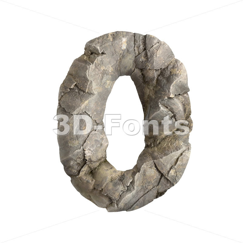 rock number 0 - 3d digit - 3D Fonts Collections | Top Quality Letters, Numbers and Symbols !