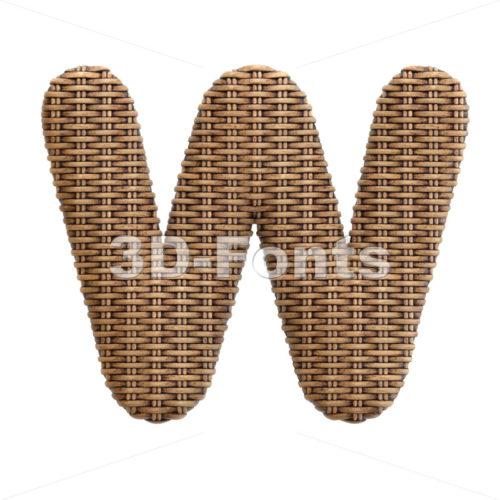 wicker font W - Capital 3d letter - 3d-fonts