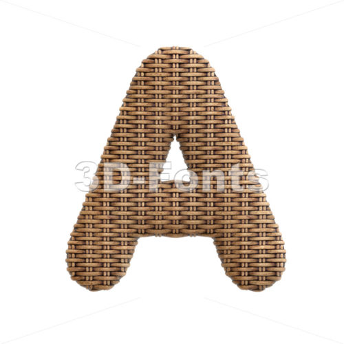 wicker letter A - Capital 3d character - 3d-fonts