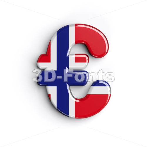 Norway euro currency sign - 3d business symbol - 3D Fonts Collections | Top Quality Letters, Numbers and Symbols !
