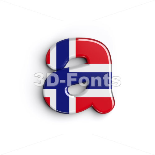 Norway font A – Lowercase 3d letter – 3D Fonts Collections | Top Quality Letters, Numbers and Symbols !