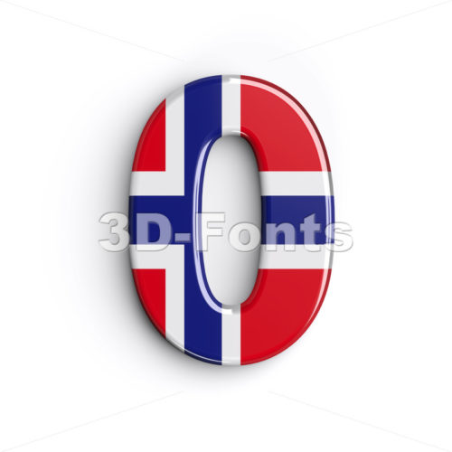 Norway number 0 - 3d digit - 3D Fonts Collections | Top Quality Letters, Numbers and Symbols !