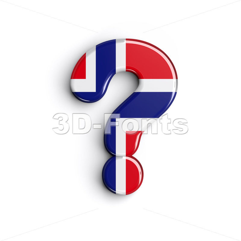 Norway number 0 interrogation point - 3d sign - 3D Fonts Collections | Top Quality Letters, Numbers and Symbols !