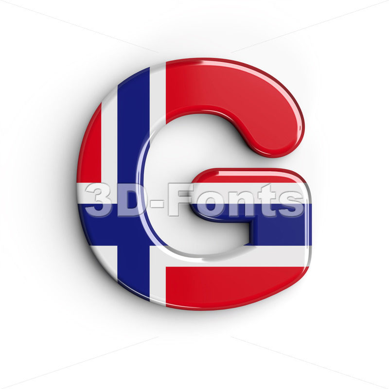 Upper-case Norway character G - Capital 3d font - 3D Fonts Collections | Top Quality Letters, Numbers and Symbols !