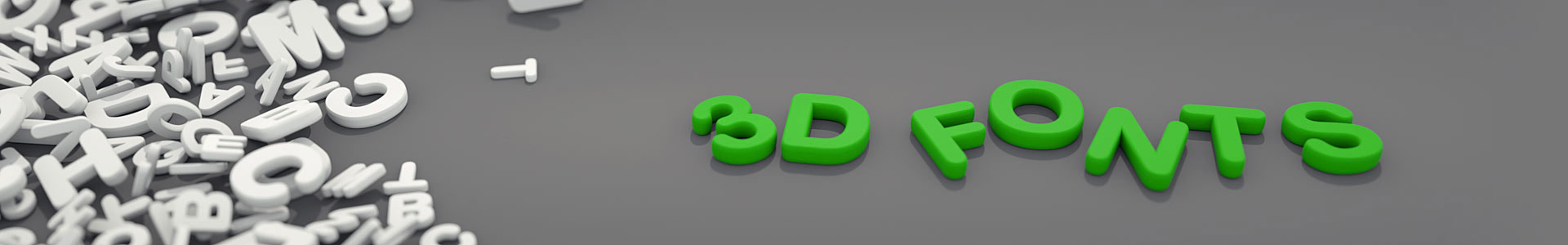 3d fonts collections, numbers, letters and signs at affordable prices