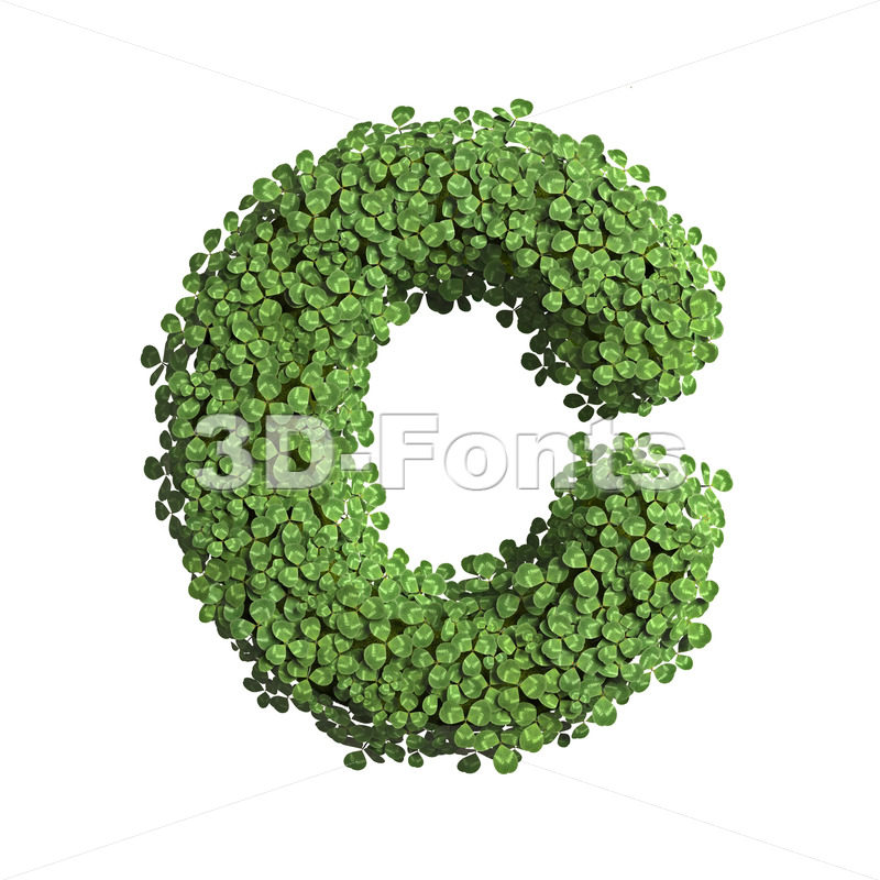 3d clover font C - Capital 3d letter - 3D Fonts Collections | Top Quality Letters, Numbers and Symbols !