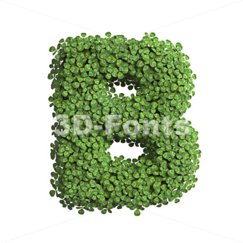 Capital ecological letter B - Upper-case 3d font - 3D Fonts Collections | Top Quality Letters, Numbers and Symbols !