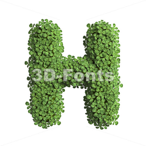 clover 3d letter H - Upper-case 3d character - 3D Fonts Collections | Top Quality Letters, Numbers and Symbols !