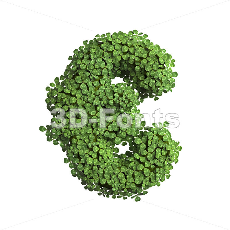 clover euro currency sign - 3d business symbol - 3D Fonts Collections | Top Quality Letters, Numbers and Symbols !