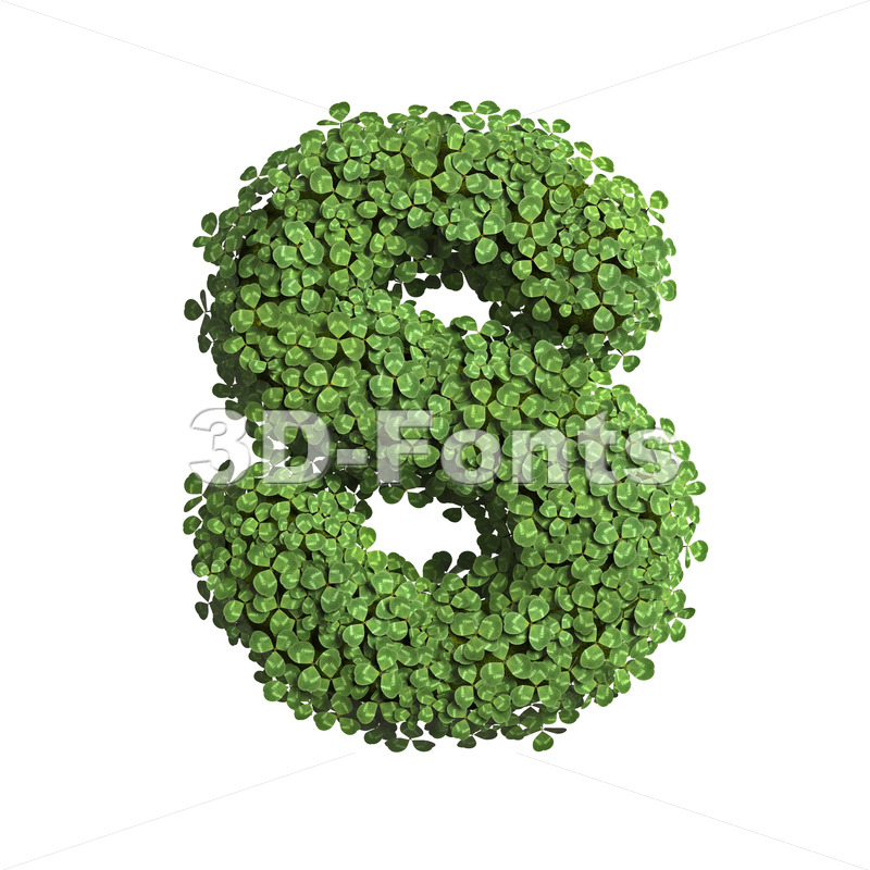 clover font S - Uppercase 3d letter - 3D Fonts Collections | Top Quality Letters, Numbers and Symbols !