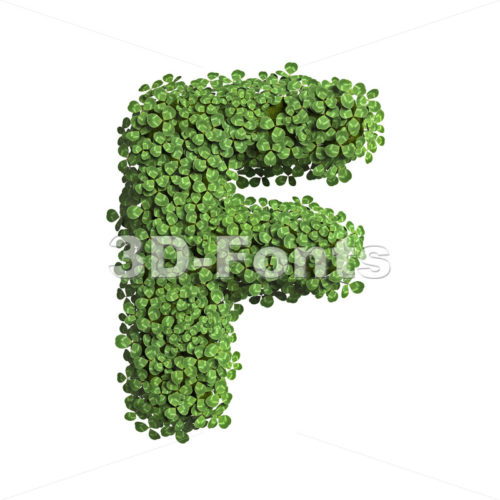 clover letter F - Upper-case 3d font - 3D Fonts Collections | Top Quality Letters, Numbers and Symbols !