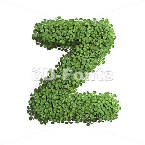 prairie alphabet letter Z - Upper-case 3d font - 3D Fonts Collections | Top Quality Letters, Numbers and Symbols !