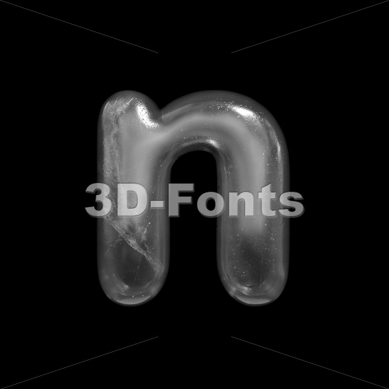 Lower-case ice letter N - Small 3d font - 3D Fonts Collections | Top Quality Letters, Numbers and Symbols !