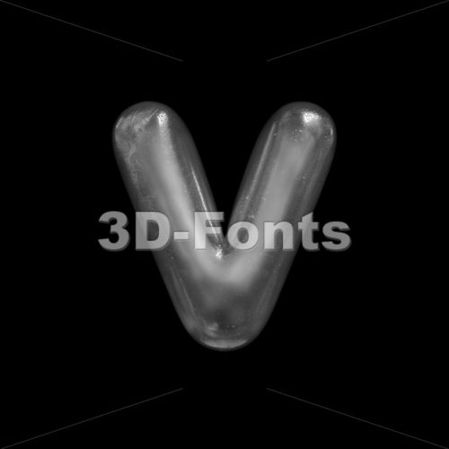Lowercase ice font V - Small 3d letter - 3D Fonts Collections | Top Quality Letters, Numbers and Symbols !