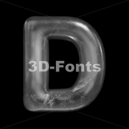 frost font D - Capital 3d character - 3D Fonts Collections | Top Quality Letters, Numbers and Symbols !